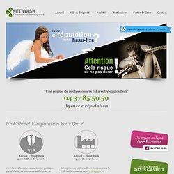 E-réputation Net'Wash, votre agence e-réputation - société e réputation