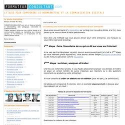 Un tableau pour suivre et analyser l'e-réputation de son entreprise