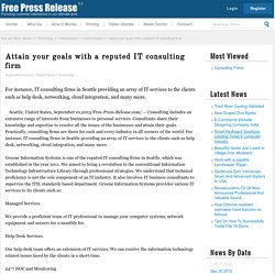 Reputed it consulting News: Attain your goals with a reputed IT consulting firm