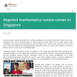 Reputed mathematics tuition center in Singapore