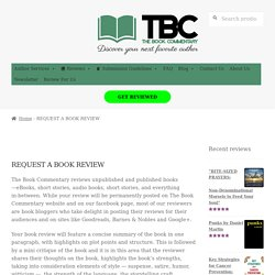 REQUEST A BOOK REVIEW - The Book Commentary