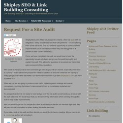 Shipley SEO & Link Building Consulting
