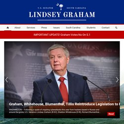 United States Senator Lindsey Graham, South Carolina : Press Room