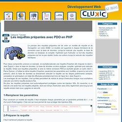 Les requêtes préparées avec PDO en PHP- (PHP, JavaScript, HTML, CSS)