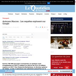 Cars Marcron : De plus en plus de requetes sur Google