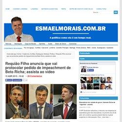Requião Filho anuncia que vai protocolar pedido de impeachment de Beto Richa; assista ao vídeo