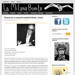 Réquiem por un campesino español de Ramón J. Sender – La Milana Bonita