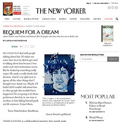 Larissa MacFarquhar: The Tragedy of Aaron Swartz