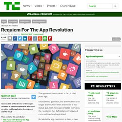 Requiem For The App Revolution