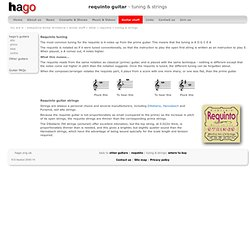 Requinto tuning and strings