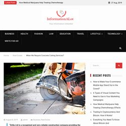 When We Require Concrete Cutting Services? -
