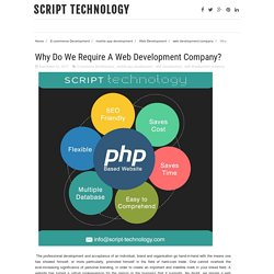 Why Do We Require A Web Development Company?