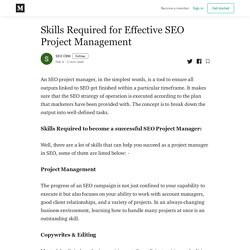 Skills Required for Effective SEO Project Management