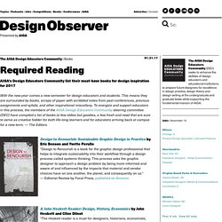 Required Reading: Design Observer