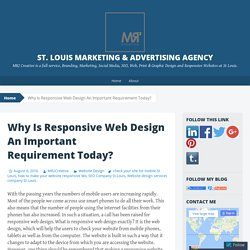 Why Is Responsive Web Design An Important Requirement Today?