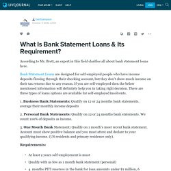 What Is Bank Statement Loan?