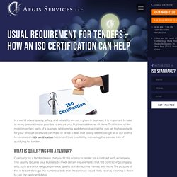 Usual Requirement for Tenders – How an ISO Certification Can Help - Aegis Services- Top Consultant for ISO Certification in Qatar