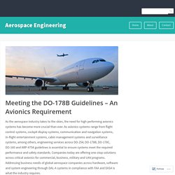 Meeting the DO-178B Guidelines – An Avionics Requirement – Aerospace Engineering