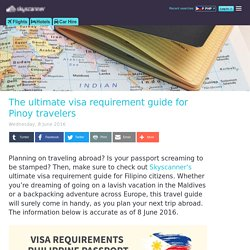 Visa Requirement Guide for Filipinos