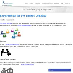 Pvt Limited Company Requirements I Online Application