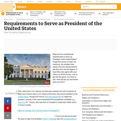 Requirements to Become President of the United States