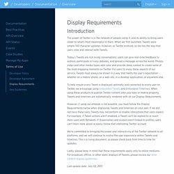 Display Requirements