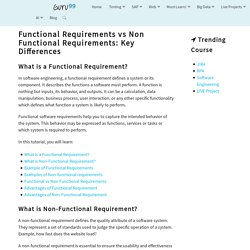 Functional Requirements vs Non Functional Requirements: Key Differences
