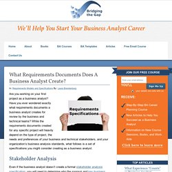 What Requirements Documents Does A Business Analyst Create?