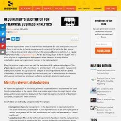 Requirements Elicitation for Enterprise Business Analytics