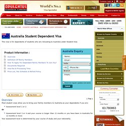 Australia Student Dependent Visa, Requirements, Eligibility