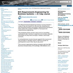 ISEB Requirements Engineering for Business Systems | GBdirect Training UK