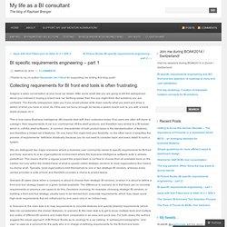 BI specific requirements engineering – part 1