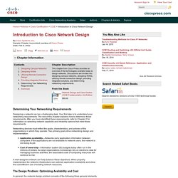 Determining Your Networking Requirements > Introduction to Cisco Network Design