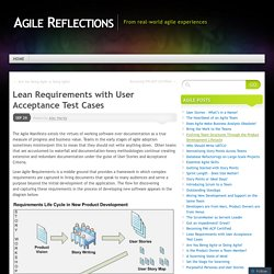 Lean Requirements with User Acceptance Test Cases
