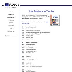 CRM Requirements Template