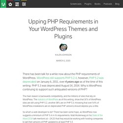 Upping PHP Requirements in Your WordPress Themes and Plugins