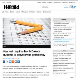 New test requires North Dakota students to prove civics proficiency