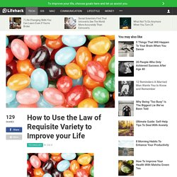 How to Use the Law of Requisite Variety to Improve your Life