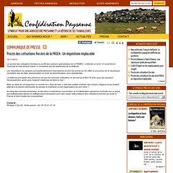 Communiqué de presse : Procès des cotisations forcées de la FNSEA : Un réquisitoire implacable