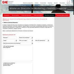 Requisitos y admisión - EAE