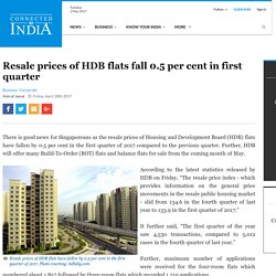 Resale prices of HDB flats fall 0.5 per cent in first quarter - Connected To India