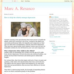Marc A. Resasco: How to help the elderly manage depression