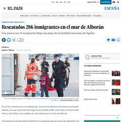 Rescatados 286 inmigrantes en el mar de Alborán