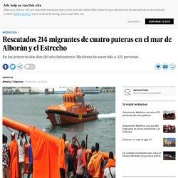 Rescatados 214 migrantes de cuatro pateras en el mar de Alborán y el Estrecho