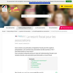 Le rescrit fiscal pour les associations