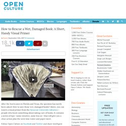 How to Rescue a Wet, Damaged Book: A Short, Handy Visual Primer