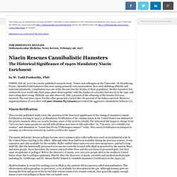 Niacin Rescues Cannibalistic Hamsters