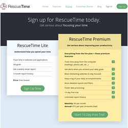Effortless personal-analytics | RescueTime