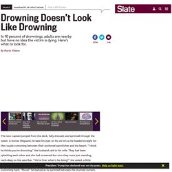 Rescuing drowning children: How to know when someone is in trouble in the water