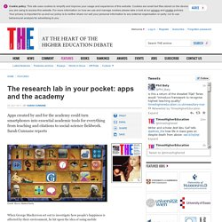 The research lab in your pocket: apps and the academy